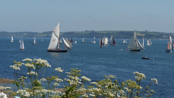 Solent and Falmouth fleets join to celebrate another key anniversary in Cornwall