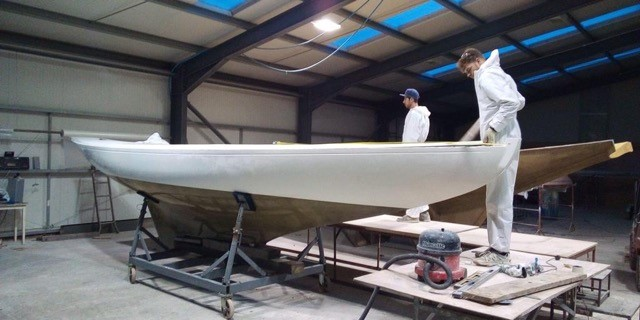 New GRP Solent Sunbeam V69 in-build on the IOW